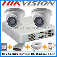 Bộ 2 camera Hikvision DS-2CE56C0T-IRP...