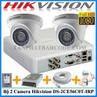 Lắp đặt bộ 2 camera Hik DS-2CE56D0T-I...