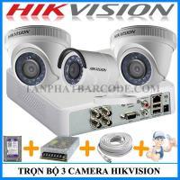 Lắp đặt bộ 3 camera Hikvision cho gia...